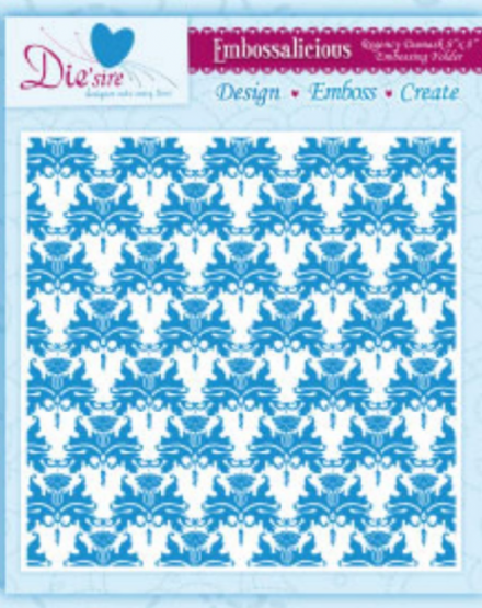 REGENCY DAMASK ~ 8x8 ~ CRAFTERS COMPANION ~ EMBOSSALICIOUS